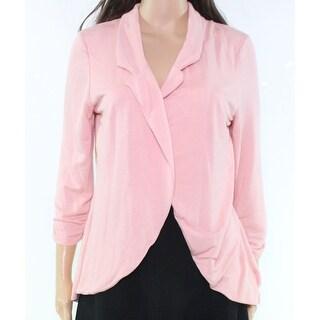 Moa Moa Pink Split-Back Chiffon Women's Small S Open Front Jacket