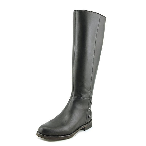 Franco Sarto Cranford 2 Women Round Toe Leather Black Knee High Boot