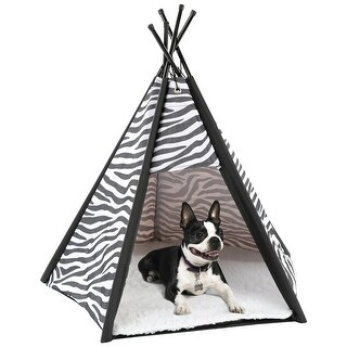 Etna Portable Teepee Pet Tent  Indoor Covered Bed for Dogs, Cats, & Rabbits