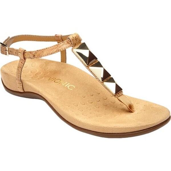 c41da53689a Shop Vionic Women s Nala Thong Sandal Gold Cork - Free Shipping ...