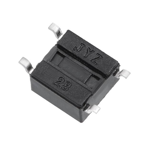 XJS 100 Pcs Tactile tact Push Button Switch 4 Pin DIP 6x6x5mm