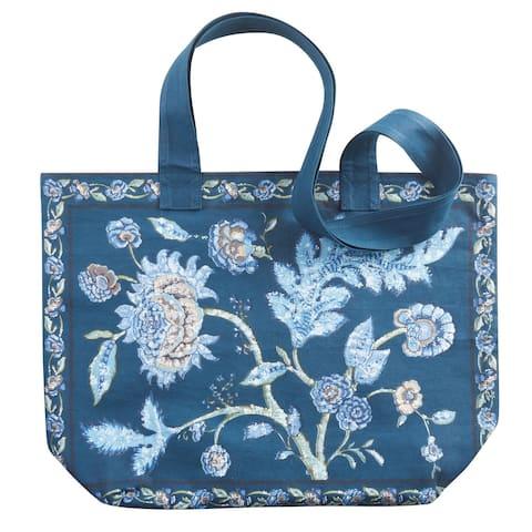 April Cornell Floral Print Tote Bag Reusable Shopping Bag 100% Cotton, - One size