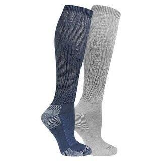 Dr. Scholl's Women's Advanced Relief Knee Highs - Anti-Microbial Socks (2 Pairs) - One size