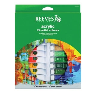 Reeves Acrylic Paint Set, 10 ml Tubes, Assorted Colors, Set of 18
