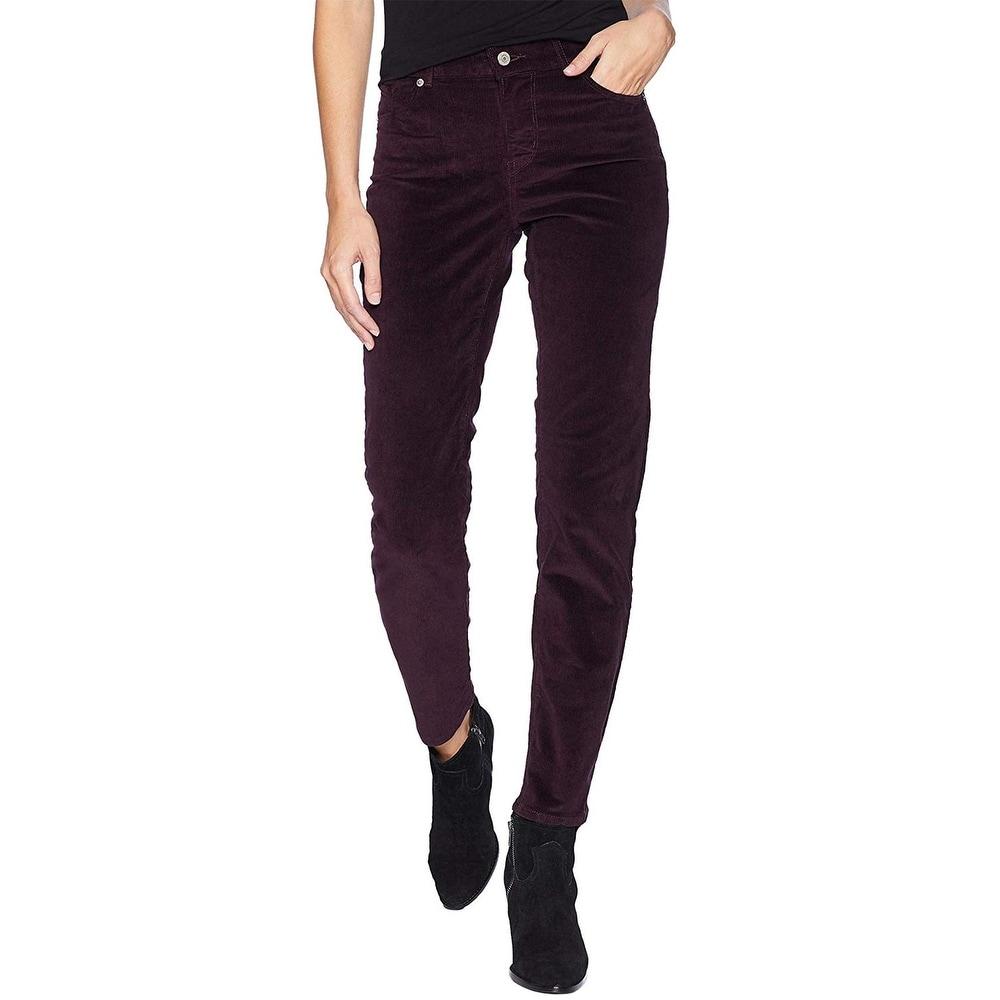 Levis Womens Classic Straight Corduroy Jeans 33 x 30 (US 16) Soft Cali Plum