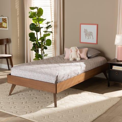 Lissette Modern Ash Walnut Finished Wood Twin Size Platform Bed Frame