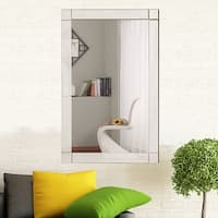 Costway 36'' Wall Mirror Rectangle Vanity Bathroom Home Furniture Decor MDF Frame - Clear