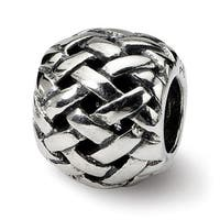 Sterling Silver Reflections Basketweave Bali Bead (4mm Diameter Hole)