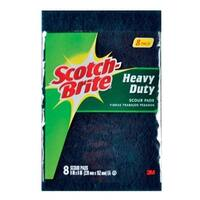 "Scotch Brite 220-8-CC Heavy Duty Scour Pads, 6"" x 9"", 8 pack"
