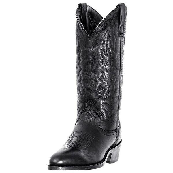 Laredo Western Boots Mens Jacksonville Cowboy Black Deer Tan