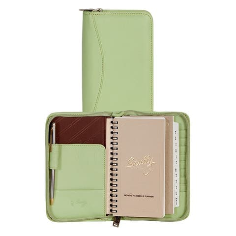 Scully Western Planner Soft Lamb Address Zip Closure - One Size