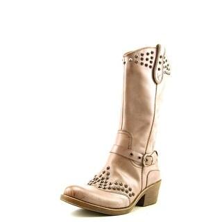 Naya Sable Women Round Toe Leather Western Boot