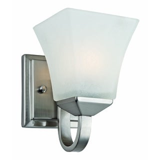 Design House 514745 Torino 1 Light Wall Mount Light Fixture, Satin Nickel
