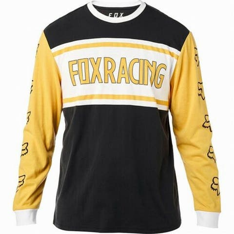 FOX Mens T-Shirt Crewneck Graphic Print Long-Sleeve