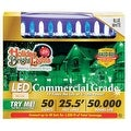 Holiday Bright Lights LED Commercial Light Set, 25-1/2', 50 lights - Thumbnail 0