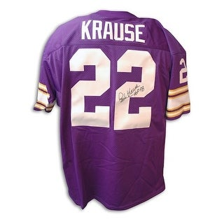 Autographed Paul Krause Throwback Vikings Purple Jersey