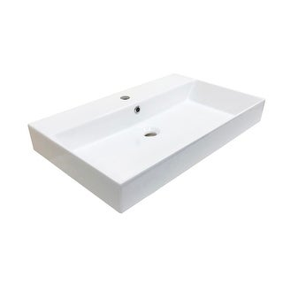 "WS Bath Collections Energy 70 Energy 27-5/8"" Ceramic Vessel Bathroom"
