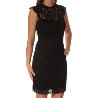 Womens Black Mini Body Con Dress Size: 5