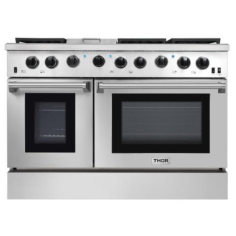 """Thor Kitchen LRG4801U 48"""" Wide 6.8 Cu. Ft. Slide In Gas Range from the Professional Collection - Stainless Steel"""