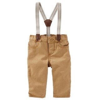 OshKosh B'gosh Little Boys' Suspender Twills- Brown- 5-Toddler
