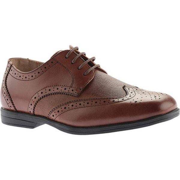 45572ab76ab1 Shop Florsheim Boys  Reveal Wingtip Jr. Cognac Linen Leather - Free ...