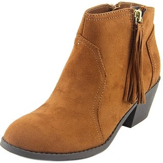 Sarah Jayne Janis Youth Round Toe Synthetic Brown Ankle Boot