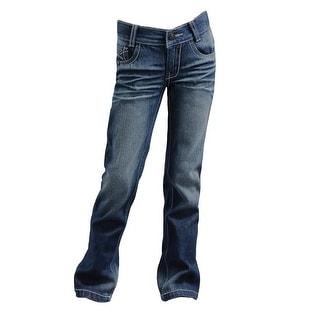 Cruel Girl Western Denim Jeans Girl Lyndie Slim Medium Wash CB22462001