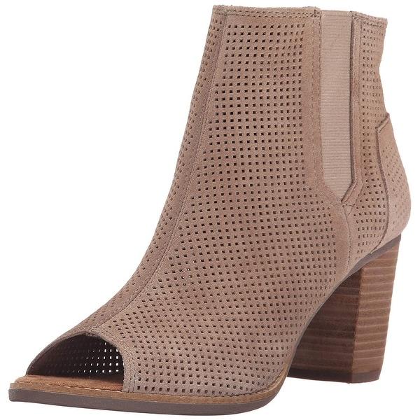 TOMS Womens Majorca Peep Toe Mid-Calf Fashion Boots