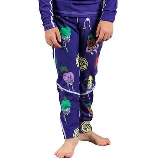 Scramble Kids Fruits and Vegetables BJJ Spats - Purple