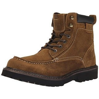 Bass Mens Errol Suede Moc Toe Lace-Up Boot