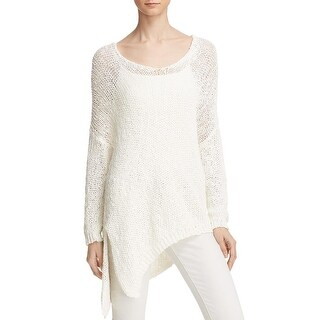 Free People Womens Pullover Sweater Pointelle Asymmetric