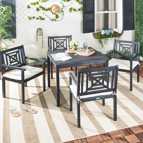 SAFAVIEH Outdoor Living Del Mar Dark Slate Grey 5-piece Dining Set