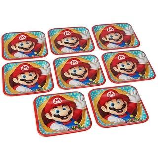 """Super Mario Bros. 9"""" Square Paper Plates, 8 Count - Multi"""
