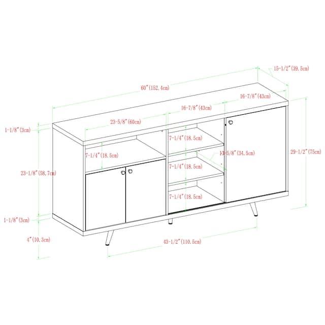 Carson Carrington 60-inch Asymmetrical Sideboard