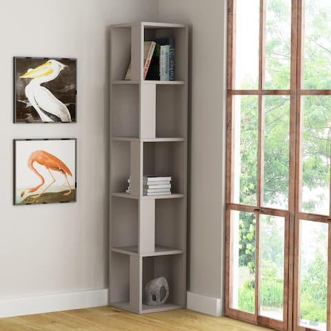 Porch & Den Hail Wood Finish Bookcase