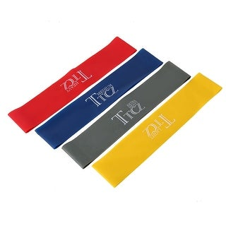 Rubber Powerlifting Resistance Band Assistance Loop Assorted Color 4 in 1