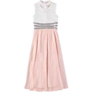 Speechless Girls 7-16 Lace Jewel Dress - Pink