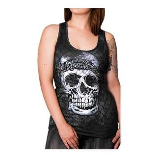 Harley-Davidson Women's Man-Eater Embellished Premium Sleeveless Tank, Black