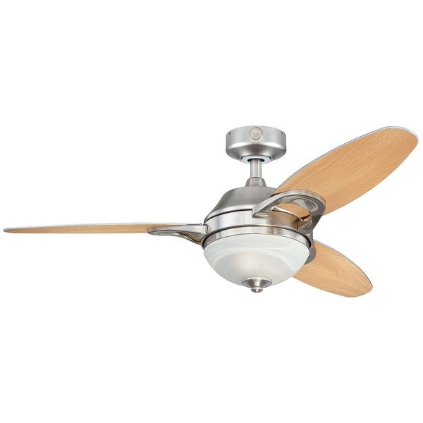"""Westinghouse 7877500 Arcadia 46"""" 3 Blade Hanging Indoor Ceiling Fan with Reversible Motor, Blades, Light Kit, Remote, and Down"""