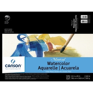 Montval Acid-Free Cold Press Watercolor Paper, 140 lb, 15 X 20 in, Natural White