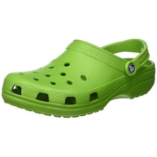 Crocs Womens Alligator Closed Toe Ankle Strap Mules