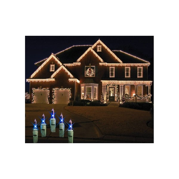 Christmas at Winterland WL-IC100-B 100-Light Incandescent Blue Icicle String - N/A