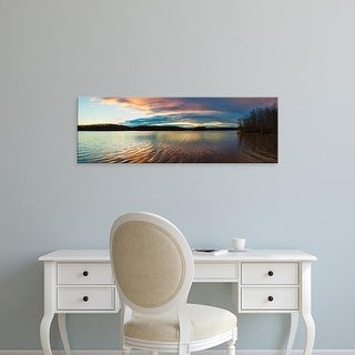 Easy Art Prints Panoramic Image 'Clouds in lake, Stephen A. Forbes State Recreation Area, Marion, Illinois' Canvas Art