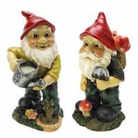 Design Toscano Gulliver and Mushroonie Garden Gnome Statues