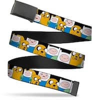 Blank Black Buckle Finn & Jake Close Up Webbing Web Belt