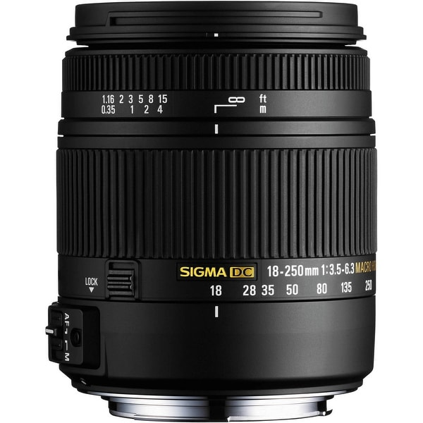Sigma 18-250mm F3.5-6.3 DC Macro HSM for Pentax K Cameras (International Model) - black