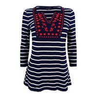 Tommy Hilfiger Women's Rhys Embroidered Peasant Top