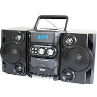 """Naxa NPB-428 Naxa NPB-428 Mini Hi-Fi System - 5 W RMS - Black - CD Player, Cassette Recorder - 1 Cassette(s) - FM, AM - 2"