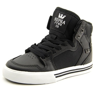 Supra Kids Vaider Round Toe Leather Sneakers