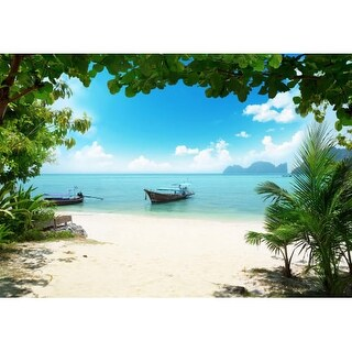 "Brewster DM158 100"" x 144"" - Phi Phi Island - Unpasted Vinyl Coated Paper Mural - 8 Panels"